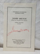 Vtg James Melton Autograph Signed on Opera Concert Program - Az081