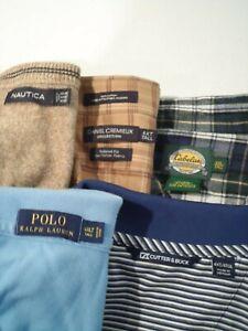 Lot of 5 Ralph Lauren Nautica Daniel Cremieux Men's Shirt Size 4XLT Tall 4XL Top