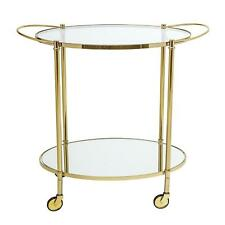 Lavish Gold Bar Drinks Trolley Table