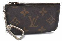 Auth Louis Vuitton Monogram Pochette Cles Coin Case M62650 LV A8434