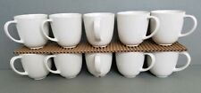 SET OF 10 IKEA 12011 10 OZ WHITE COFFEE CUPS MUGS