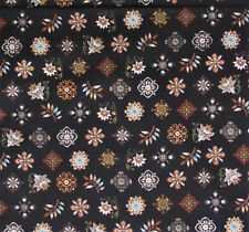 Quilting Treasure, Dan Morris Design, Medallions on Black, Cotton Fabric, BTY