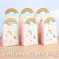 50X Unicorn Theme Paper Bag Treat Gift Loot Candy Box Kid Birthday Party Favour