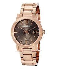 Nouveau BURBERRY BU9005 femme LA CITY or rose carreaux Dial Watch -2 ans de garantie