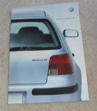 Volkswagen VW Golf Match Special Edition Brochure 2003 - 1.4 1.6 1.9 TDI PD 100