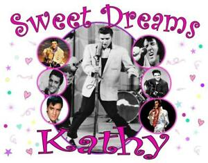 """Personalized ELVIS PRESLEY PILLOWCASE """"Sweet Dreams"""" Photo Collage Any NAME"""