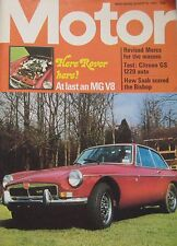 Motor magazine 18/8/1973 featuring MGB V8 cutaway drawing, Citroen GS road test
