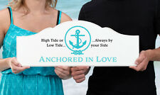 Anchored In Love Nautical Themed Wedding Sign