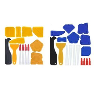 5X(17 Pieces Caulking Tool Kit Silicone Sealant Finishing Tool Grout Scraper C K