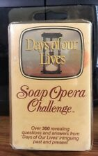 Soap Opera Challenge Days of Our Lives Trivia Card Game 1987 RARE