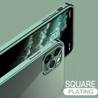 For iPhone 11 Pro Max 7 8 XR XS X SE 2020 Square Plating Soft Case Cover