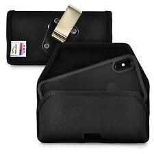 iPhone XS 2018 & iPhone X 2017 Belt Clip Holster Case Black Nylon Rotating Clip