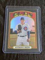 2021 Topps Heritage Anthony Rizzo Chrome Black Refractor # 20/72 Cubs