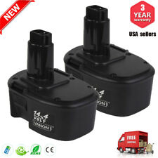 2Pack New Ni-CD 14.4V Battery for Dewalt DC9091 DW9094 DW9091 DE9038 Power Tools