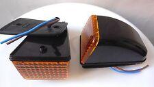 2x Amber/Orange Sunvisor Roof Cab Marker Lamp Lights Volvo FH FM Version 2 02-09