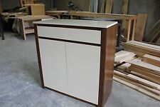 THS-012 Brand New Local Manufactory Tasmania Oak & High Gloss Shoe Cabinet