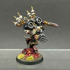 WARHAMMER 40,000 CHAOS SPACE MARINES BLACK LEGION HAARKEN WORLDCLAIMER PAINTED
