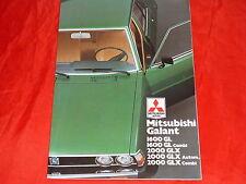 Mitsubishi GALANT BERLINE Combi 1600 GL 2000 GLX prospectus poster de 1978