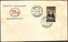 ITALIA BUSTA CAVALLINO POSTE ITALIANE 1958 GIOVANNI SEGANTINI ANNULLO ROMA FDC