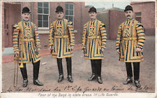 ANGLETERRE ENGLAND ARMY 1st life guards four of the band in state dress stamped