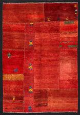 TAPPETO PERSIANO PUZZLE GABBEH DA COLLEZIONE ANNODATO A MANO cm. 220 x 120