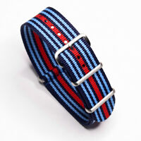 One-Piece Strap Martini Inspired Lancia Rally Racing Colors Nylon Watch Band