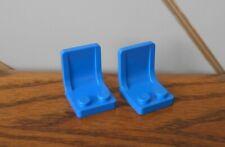 BLUE CHAIR/SEAT PAIR spare part/piece/brick genuine vintage LEGO house LEGOLAND