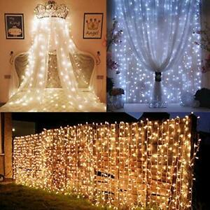 LE Dual Color LED Curtain Lights 2 in 1 Cool and Warm White Timer/Remote/Dimm...