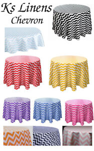 Tablecloth Chevron Round 30,36,45,54,60,72,83,90,96,108 and 120 inch