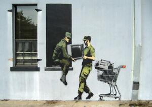 BANKSY LOOTING SOLDIERS ART PRINT POSTER