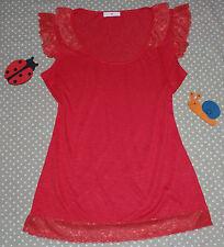 ✿❀ Haut top t-shirt dentelles stretch femme ✿❀ CACHE CACHE ✿❀ Taille 2 38/40