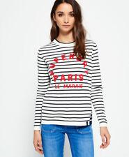 Superdry Womens Le Marais Stripe Knit Jumper
