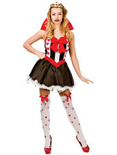 Adult Fairytale Queen Of Hearts Outfit New Fancy Dress Costume Storybook Ladies