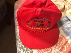 Vintage 1986 Boxing Hat Cap Mike Tyson vs Berbick on Site LA Vegas Hilton
