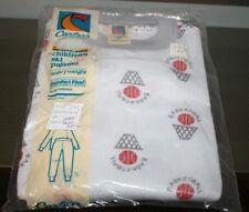 Vintage Carter's Children's Ski Pajama Heavyweight Gray Basketball Size 4 NOS