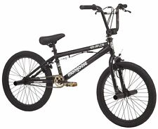 "Mongoose Brawler Boys' Freestyle BMX Bike, 20"" Wheels, Black"
