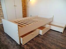 Kinderbett Jugendbett  Kojenbett  Funktionsbett Einzelbett 100x200cm  Weiß