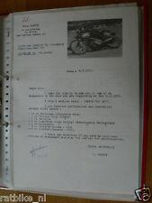 HT134-ORIGINAL LETTER FROM BLAISE CURTIN 350 CC YAMAHA TUBBERGEN 1972