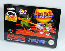 DAFFY DUCK THE MARVIN MISSIONS für Super Nintendo NEU Hülle CIB NEW SNES Spiel