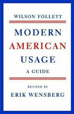 Modern American Usage : A Guide by Wilson Follett (1966, Paperback)