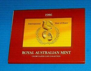 Australia 1986 Mint Set A Nice Set Uncirculated