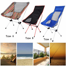 Portable Collapsible Moon Chair Camping BBQ Stool Folding Extended Hike Seat BD