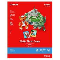 "Canon Pixma Photo Paper Plus, Matte, 8.5"" x 11"" Letter, White, 100 sheets"