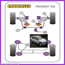 For Peugeot 106 Gti & Rallye Powerflex Bush Kit [11 Bushes, M10 Rear Beam]