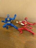 Power Rangers Dino Thunder McDonalds toy lot Red Blue Ranger Figures MMPR