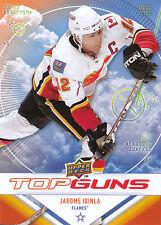 09/10 UPPER DECK TOP GUNS #TG5 JAROME IGINLA FLAMES *9052