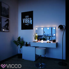 VICCO Schminktisch Frisiertisch LED Lichterkette Bank Hocker schwarz weiß