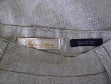 Ladies Revolution Linen High Trousers Size M  eur 40 W 34 L 26 Natural / Beige
