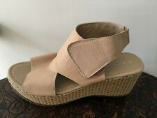 e8fded031839 Sheridan Mia ~ Leather ~ Tan ~ Woven Wedge Heel ~ Sandals ~ Our 39 ~
