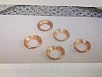 "Flare Fitting Gaskets, Copper Flare Rings, 3/8"", Improves Seal, For 45 Degree"
